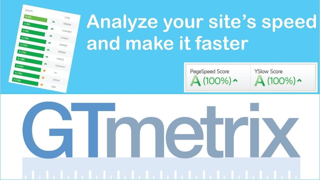 site hızı ölçme gtmetrix